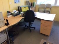 Office Furniture for sale due to closing down - filing cabinets chairs desks