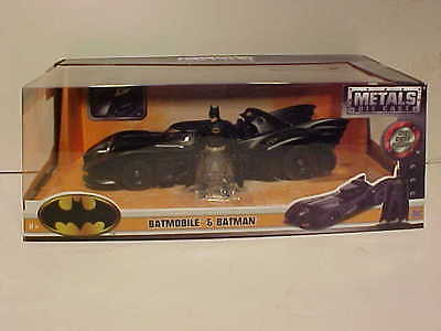 Batman Returns 1989 Batmobile Diecast Car 1 24 Jada Toys 8 Inch Figurine Sale