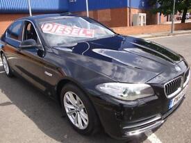 14 BMW 520D 184 BHP SE 4 DOOR DIESEL SAT NAV LEATHER £30 ROAD TAX