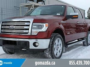 2014 Ford F-150 Lariat, ECO leather, sunroof, navigation, ecoboo