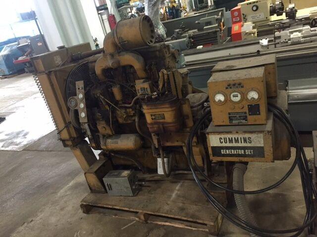 Cummins Diesel Generator Set 75 Kva 206 Amps. 240/416 Volts (29277)