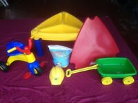Child's sand/water pit & tricycle