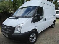 2013 Ford Transit 2.2TDCi NO VAT AIR CON 350 LWB MILES GUARANTEED, HI ROOF