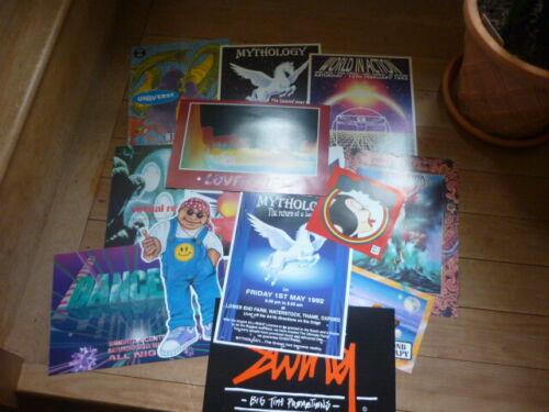 rave flyers  set of 13 original clubflyers 90s club mint copies