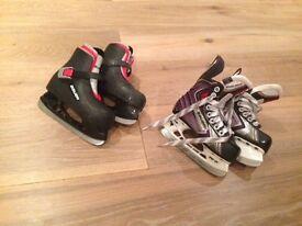 Children's BAUER ice skates - size 10 and 10.5