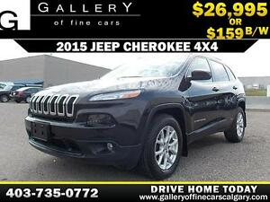 2015 Jeep Cherokee Latitude 4WD $159 bi-week APPLY NOW DRIVE NOW