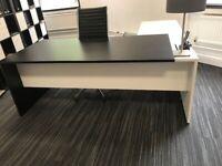 Large L-Shaped Executive Desk, 2m x 2m