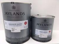 2 pots of Mylands Syon Park 13 water-based Marble Matt paint