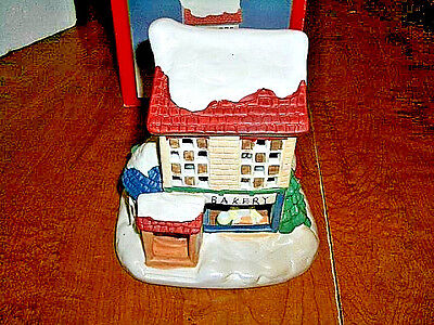 LEMAX - SHARE THE JOY - CHRISTMAS *MUSICAL BAKERY*  BUILDING - USED -  WORKS !!