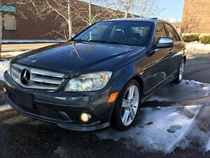 2009 MERCEDES BENZ C300 4MATIC, 1 OWNER, LOW KM