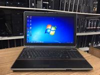 Dell Latitude E6520 Core i7-2640M 2.80GHZ 4GB RAM 500GB HDD Win 7 Fast Laptop