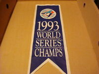 REDUCED PRICE '93 BLUE JAY WORLD SERIES CHAMPS MINI PENNANT: $20