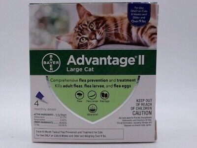 Advantage II Flea Control for Large Cats, Purple - 9lbs 4 Month