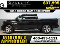 2013 DODGE RAM SPORT CREW *EVERYONE APPROVED* $0 DOWN $259/BW