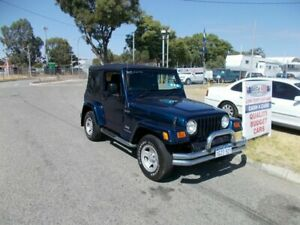 2003 Jeep Wrangler TS SPORT 4X4 2 DOOR SOFT TOP Blue 5 Speed Manual Wagon