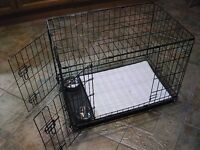 DOG CRATE WITH REMOVABLE BASE (TRAY) WITH PADDED MAT