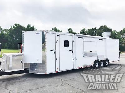 New 8.5x32 Enclosed Cargo Concession Food Vending Kitchen Trailer W Bath
