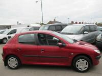 PEUGEOT 206 1.4 LX 5dr [AC] (red) 2001