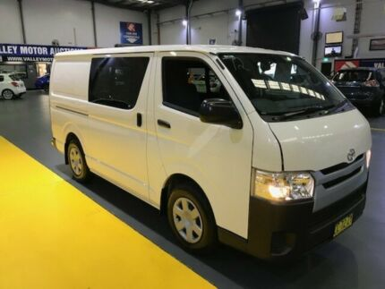 2015 Toyota Hiace KDH201R MY15 LWB Crew White 4 Speed Automatic Van