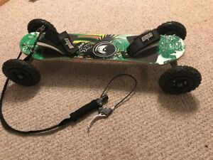 Mountain board with front brake