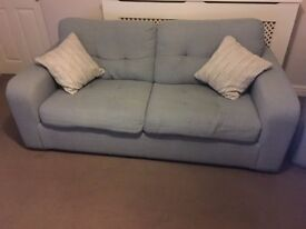 Pale green 3 seat / 2 cushion sofa, excellent condition