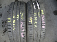205 55 16 Michelin A Pair 5mm (Part Worn Tyres Braintree) 185 175 95 215 225 45 50 60 65 14 15