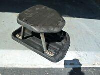 Roller stool.