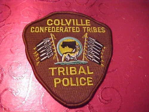 WASHINGTON COLVILLE TRIBAL POLICE PATCH SHOULDER SIZE UNUSED