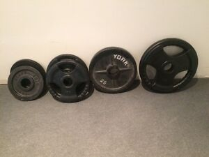 Olympic Weight Plates - York / Northern Lights ($0.75/lb)
