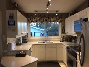 Complete set of excellent white kitchen cabinets for sale