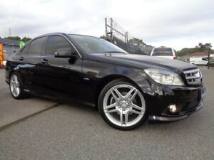 2010 Mercedes-Benz C200 W204 MY10 CGI Black 5 Speed Auto Tipshift Sedan Pooraka Salisbury Area Preview