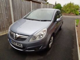 Silver Vauxhall Corsa Design 1.4i - ideal first car, below average mileage, FSH, 2 lady owners