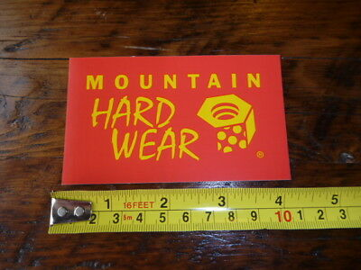 MOUNTAIN HARDWEAR Tent Jacket STICKER Decal NEW Red Yellow, used for sale  Shipping to India