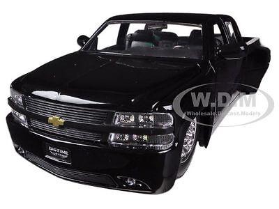 1999 CHEVROLET SILVERADO DOOLEY BLACK 1/24 DIECAST MODEL CAR BY JADA 90145