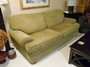 3 piece LIVING ROOM SUITE : LOVESEAT, SOFA, CHAIR & 1/2