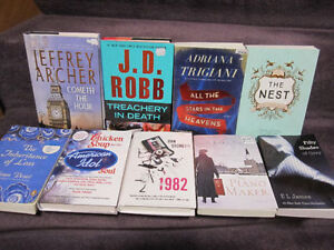 Assortment of Fiction Books - New, Sold on Choice - $5.00 ea.