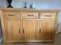 Natural Solid Oak Large Sideboard - immaculate condition