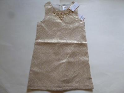 Gymboree Holiday Shine Gold Brocade Gem Dress Christmas Formal Upick Size NEW - Gold Christmas Dresses