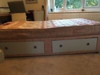 Single bed and base with draws