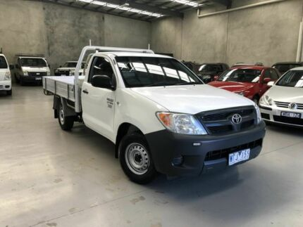 2008 Toyota Hilux TGN16R MY08 Workmate 4x2 White 5 Speed Manual Cab Chassis Coburg North Moreland Area Preview