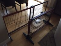 Gates: suitable for small pet/puppies