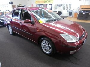 2003 Ford Focus LR MY2003 LX Maroon 4 Speed Automatic Sedan Wangara Wanneroo Area Preview