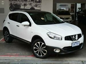 2012 Nissan Dualis J10W Series 3 MY12 Ti Hatch X-tronic 2WD White 6 Speed Constant Variable Doncaster Manningham Area Preview