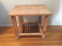 Wood table small
