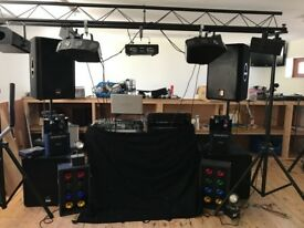 Full Professional DJ and Disco Equipment Set Up (Including Lights and Gantry)
