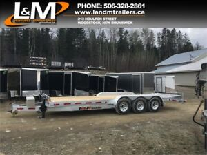 NEW 2018 N&N GALVANIZED TRI-AXLE EQUIPMENT TRAILER 21,000lb GVW
