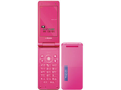 DOCOMO SHARP SH-11C 8.1 MP JAPANESE UNLOCKED FLIP PHONE CELL KEITAI PINK NEW Pink Unlocked Cell Phones