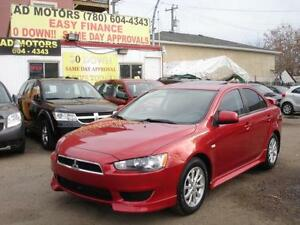 2011 MITSUBISHI LANCER SE SUNROOF AUTO 55K-100% APPROVED FINANCE