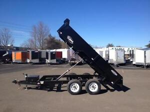 NEW 2016 CAM 6' x 12' LOW PROFILE DUMP TRAILER