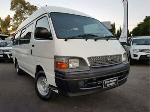 2004 Toyota Hiace RZH125R Commuter White 5 Speed Manual Bus